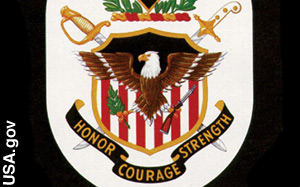 The bald eagle is part of the <br>U.S. Army's coat of arms